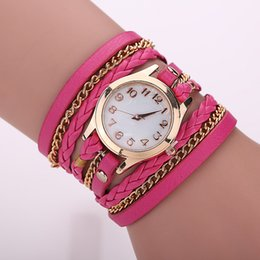 Wholesale Gold Belt Buckle Bracelet - Foreign trade sales hot style Creative braided rope bracelet with all sorts of tables Belt weaving around bracelet performance goods