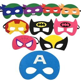 Wholesale Christmas Star Design - kids superhero mask cosplay halloween mask halloween half masks superman spiderman batman captain america mask Eye Masks 93 designs in stock