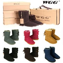 Wholesale Blue Tall Boots - 2017 High Quality WGG Women's Australia Classic tall Boots Women girl boots Boot Snow Winter boots leather shoes US SIZE 5--10