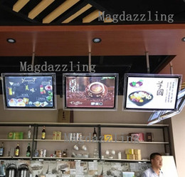Wholesale Restaurant Menu Boards - Wholesale- A2 Restaurant Indoor Acrylic Frame LED Menu Boards,Slim LED Menu Light Box with Black Border