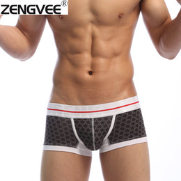 Wholesale Wholesale Designer Underwear - Wholesale-Men Boxers Cotton Trunks Boxer Shorts Underwear Fashion Designer-Free shipping