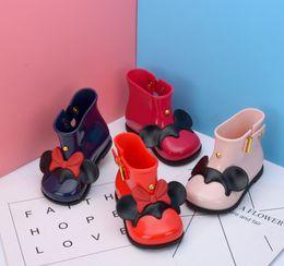 Wholesale Wholesale Blue Heels - New Girls Rain Boots Waterproof Kids Rain Shoes Girls Boots With Bow Jelly Kids Rainboots Girls PVC Shoes
