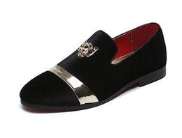 16e9022884ca2d Discount thanksgiving plus size tops - New Fashion Gold Top and Metal Toe  Men Velvet Dress