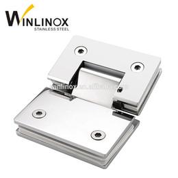 Wholesale Hinges Glass Shower Doors - SS304 stainless steel 90 degree shower hinge glass door clamp