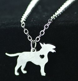 Wholesale Bull Jewelry - Bull terrier 2016 fashion foreign trade jewelry wholesale pendant necklace dog tag necklace stainless steel pet animals