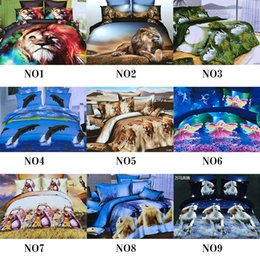 Wholesale Cheap Animal Bedding - Cheap 3D Bedding Sets 4pcs Pattern Design Printed Comforter Sets Queen Size Duvet Cover Bed Sheet free