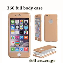 Wholesale Iphone Full Phone - Ultra-thin Hybrid 360 Degree Full Body Coverage Protective Case Cover with Tempered Glass Screen for smart phone X 7 plus Sam s8 plus note 8