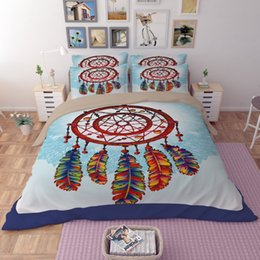 Wholesale Wholesale King Bedding Comforter Sets - New Printed bedding set Polyester Dream Qualified Soft Duvet Cover and Pillowcases Bedding pieces Set Twin Full Queen King Size 3pcs