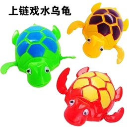 Wholesale Plastic Swimming Pools - New Wind up Swimming Funny Turtle Turtles Pool Animal Toys For Baby Kids Bath Time Free Shipping wd001