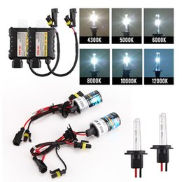 Wholesale Xenon H7 55w H1 - 55W HID Xenon Headlight Conversion KIT H1 H3 H7 H8 H9 H11 880 881 9005 9006 10000K Car Led Bulbs