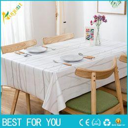 2019 quadratische stickerei tischdecken Neue heiße Qualitäts-europäische Art PVC-wasserdichte Öl-Beweis-Tee-Tabellen-Tuch-elegante Tabellen-Abdeckung für Inneneinrichtung