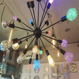 Wholesale Rgb Fixture - Antique Retro Vintage Edison Light Bulb E27 110V 220V 3W Incandescent Light Bulbs ST64 A19 G95 led Cob Bulb Edison Lamps Fixtures flymall