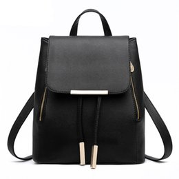 Wholesale Leather Drawstring Purse - Womens Fashion Candy Backpack Leather Mochila Escolar School Bags for Teenagers Girls Drawstring Casual Daypack Ladies Travel Satchel Purse