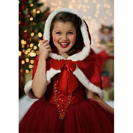 Wholesale Wholesale Cinderella Flower Girl Dresses - 2017 Beautiful blue and red Cinderella flower Girls Dresses Pageant Gowns for Kids Wedding Party for Christmas Children's princess dress
