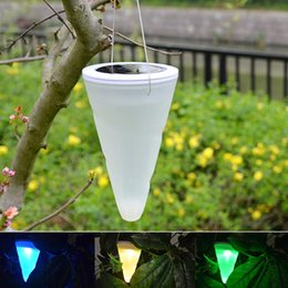 Wholesale Hanging Solar Lights For Garden - Solar LED Hanging Lights Color Changing Balcony Garden Outdoor Chandelier Yard Decorative Lights NI-MH Battery Lamp for Christmas