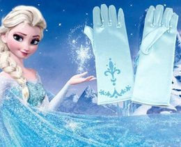 Wholesale Wholesale Snow Gloves - Sell!Elsa Princess Girl Fancy Gloves girls costumes snow queen gloves Frozen Elsa Cosplay Party Gloves Handschuhe Gants Girls Fancy Dress UP