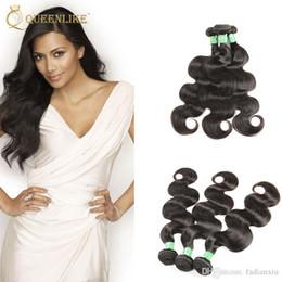 Wholesale Wholesale For Brazilian Human Hair - Brazilian Virgin hair Weave Bundles Body wave 1B Dyeable Unprocessed Remy human hair extension For Black Women Queenlike Silver 7A Grade