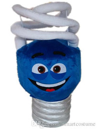 Wholesale Energy Costumes - SX0730 Good vision and good Ventilation a blue energy saving lamp mascot costume for adult to wear