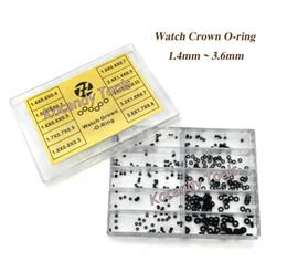 Tamanhos de vedação on-line-10 Tamanho De Borracha Assista O-Anel conjunto de JARRAS para o Relógio Coroa Peças de Relógios À Prova De Água Relojoeiro Repair Set Tool Kit Herramientas