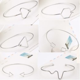Wholesale Trend Bracelet - Hot Bracelets for women Hot sell simple Rose Gold wild bangles trend open bangles free shipping