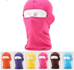 Wholesale Orange Face Mask - free shipping wholesale new Outdoor Protection Full Face Lycra Balaclava Headwear Ski Neck Cycling Motorcycle Mask