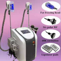 Wholesale Radio Frequency Body Treatment - Professional 2 handles Fat Freezing lipolaser cavitation machine radio frequency treatment fat freeze slimming machine body Shape fat loss