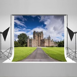 Wholesale Castle Background Photography - Kate 5x6.5ft(1.5x2m) Photo props Castle Photography Backdrop Retro Style Building Fabric Photo Background Seamless No creas YY00396