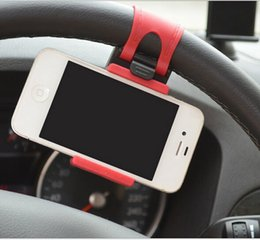 Wholesale Driving Steering Wheel - Car Steering wheel Navigation phone Universal drive Mobile Mount Holder Random hone Socket Mini Holder Stand For Iphone Samsung