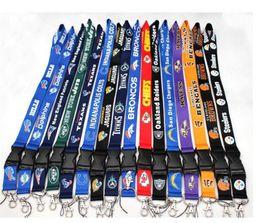 Wholesale Lanyard Football Team - 50pcs lot Football Teams Lanyard ID Card Badge Holder Detachable Keychain For Xmas Gifts Hot Sales Free Shipping