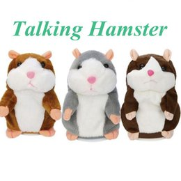 Wholesale Talking Hamster Wholesale - Talking Hamster Plush Toy 15CM Lovely Cute Speak Talking Sound Record Hamster Talking Toys Mouse Pet Plush OOA2883