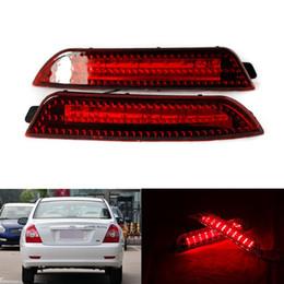 2019 luzes led elantra hyundai 2 Pcs LED Vermelho luz de freio de aviso de estacionamento à prova d 'água LEVOU farol traseiro refletor luzes cauda lâmpada apto para Hyundai Elantra desconto luzes led elantra hyundai