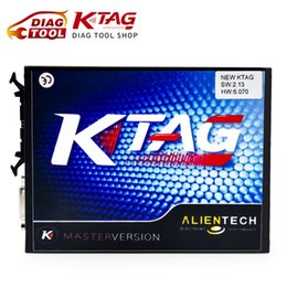 Wholesale Auto Ecu Chip - Wholesale-Newest KTAG V2.13 FW 6.070 K-TAG ECU Programming Tool Master version Auto ECU programmer Car Chip Tuning