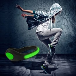Wholesale Shoes For Bikes - LED Luminous Shoe Clip Night Light Running Gear Shoe Lights Safety Warning LED Bright Flash Light For Running Cycling Bike Christmas Light