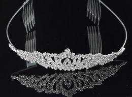Wholesale Cheap Crystal Headbands - Fashion Headband Hair Clips Crystala Jewelry Bridal Hair Wedding Brides Romantic Cheap Rhinestone Wear Beautiful Good Sell