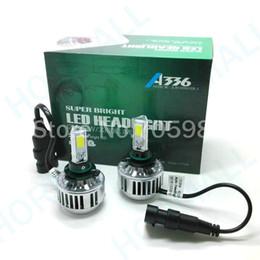 Wholesale headlamp bmw - 9006 HB4 3 COB Led Headlight H7 H8 H9 H10 H11 HB3 9005 LED Headlight LED headlamp 3 COB Cree Chip Super Bright