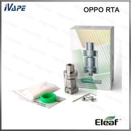 Más depósitos online-100% Original Eleaf OPPO RTA Tanque 2ml atomizador de llenado superior con espacio de construcción abierto ancho ranuras más grandes para más flujo de aire
