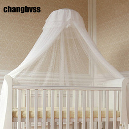 Wholesale Princess Curtains - Wholesale- Children Room Decor Hung Dome Baby Crib Mosquito Net Princess Mosquito Nets For Baby Girls Infant Crib Netting Baby Bed Curtain