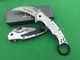 Wholesale outdoor camping plates - Outdoor FOX Claw Karambit Knife Nickel Plated Antirust G10 And Aluminum Handle Pocket Knife Hunting Knife Gift Knife F392E