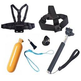 Wholesale Gopro Belt - For Gopro accessories Monopod Octopus Tripod Chest Belt Head Strap Mount For Go pro hero 3 4 5 Xiaomi yi 4k Black Edition SJ4000