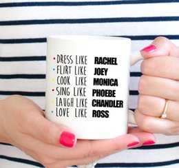 Wholesale Coffee Cup Decals - Wholesale- Friends Mug Friends TV SHOW Mug coffee mugs Cups home decal wine cup whiskey beer ceramic mugs