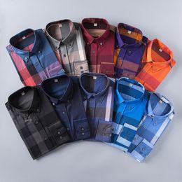 Wholesale Organic Mens Shirts - Wholesale 2017 New Spring Men Shirt Lattice Design Korean Style Casual Mens Plaid Shirts Man Long Sleeve 100% cotton dress men shirts S-XXL
