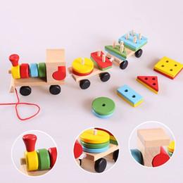 Bloques de construcción de juguete para niños pequeño tren rompecabezas educación juguetes de la primera infancia bloques de construcción al por mayor envío gratuito desde fabricantes