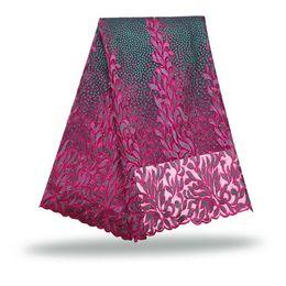 FCT 024 5 yards / lot Tessuto libero del merletto della rete di tulle di trasporto, nuovo panno ricamato venente del merletto della maglia per il vestito da cerimonia nuziale da
