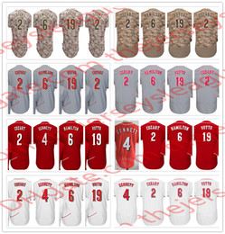 Wholesale Red Scooters - Cincinnati Hot Baseball Jerseys Stitched White Home Gray Road Cream Red #2 Zack Cozart 4 Scooter Gennett 6 Billy Hamilton 19 Joey Votto