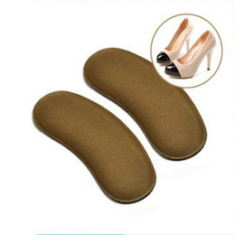 Wholesale Activated Carbon Media - 2016 New 2000Pairs lot Sticky Fabric Shoe Back Heel Inserts Insoles Pads Cushion Liner Grips free shipping