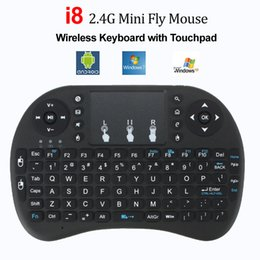 Wholesale Smart Tv Keyboards - Backlight Wireless Keyboard Rii Mini i8 Air Mouse Media Player Remote Control with Touchpad for Android Smart TV Box MXQ Mini PC