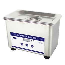 Reloj de baño online-Máquina limpiadora ultrasónica digital caliente Cestas de la máquina de la limpieza Relojes dentales PCB 0.8L 35W 42 kHz Ultrasonido Limpiador ultrasónico Baño