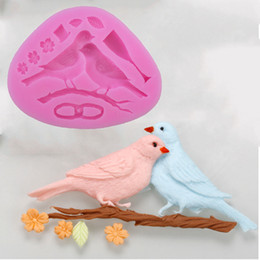 Wholesale Molds For Candy - Wholesale- free shipping 2pcs baking mould Huangmei Magpie Type Candy Fondant Cake Molds For The Kitchen Baking Molds 11.8*8.8*1.3cm