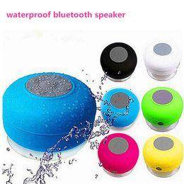 Wholesale Bass Plastic - Fashion Waterproof Speaker Wireless Shower Handsfree Bluetooth Speakers Waterproof Portable mini MP3 Super Bass with retail package