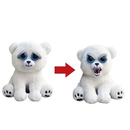 "Wholesale Polar Stuff - William Mark- Feisty Pets: Karl the Snarl- Adorable 8.5"" Plush Stuffed Polar Bear That Turns Feisty With A Squeeze"